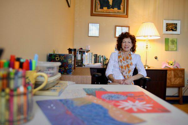 Debra Steinfeld at her desk