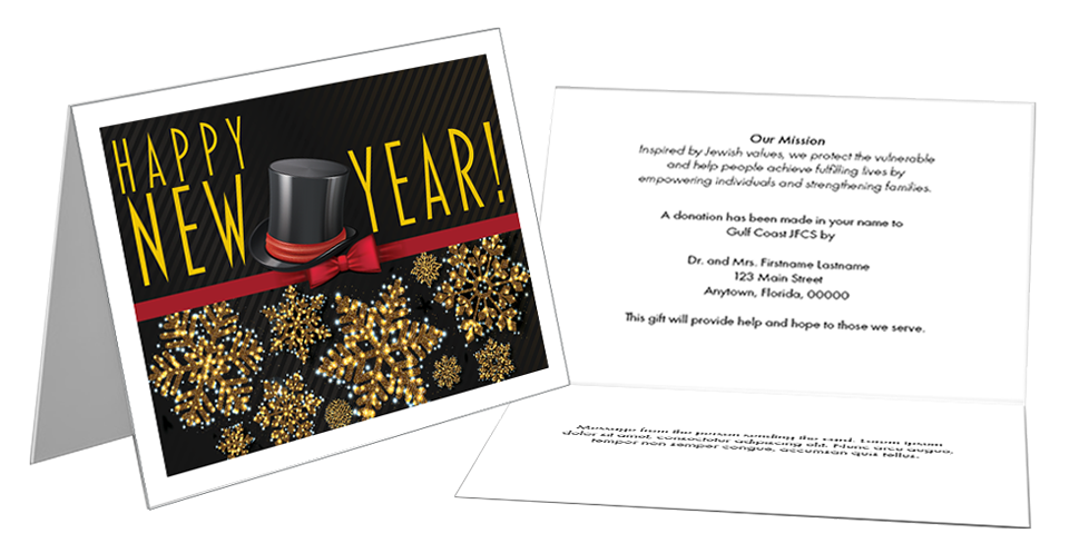 New Years tribute card