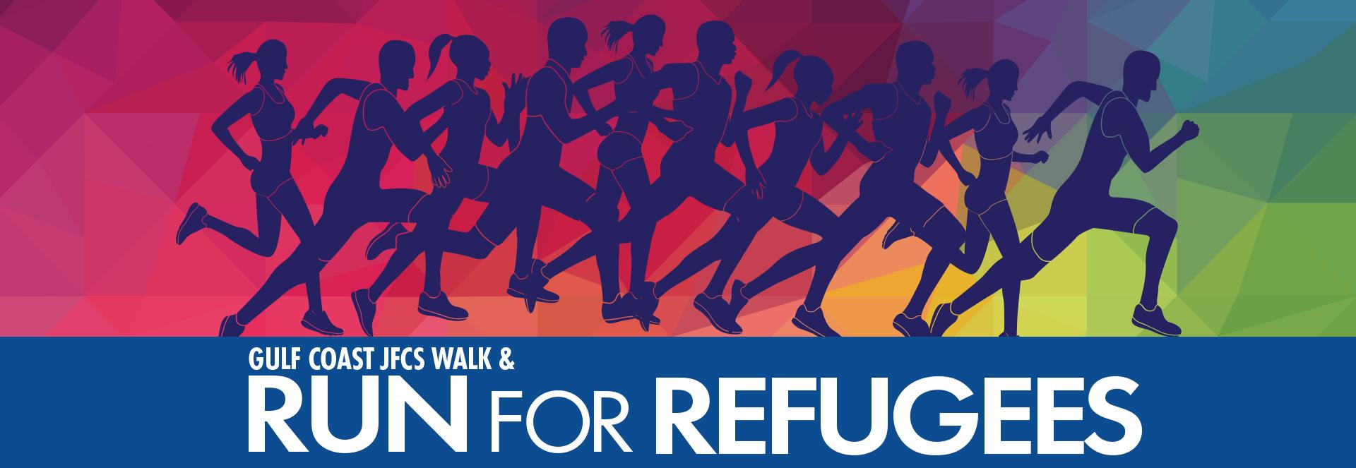 Gulf Coast JFCS Walk & Run for Refugees banner