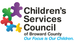 "Children's Services Council of Broward County logo, ""Our Focus is Our Children."""