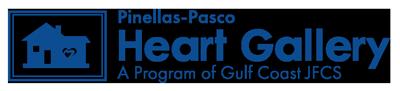 "Pinellas-Pasco Heart Gallery logo, ""A Program of Gulf Coast JFCS"""