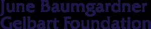June Baumgardner Gelbart Foundation logo