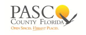 "Pasco County Florida logo, ""Open Spaces. Vibrant Places."""