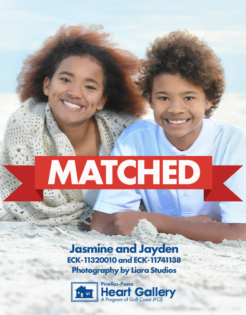 MATCHED: Siblings Jasmine and Jayden