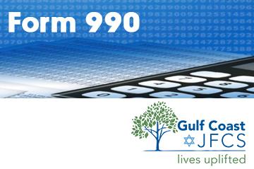 """Banner: """"Gulf Coast JFCS Strategic Plan & Goals 2020-2023"""""""