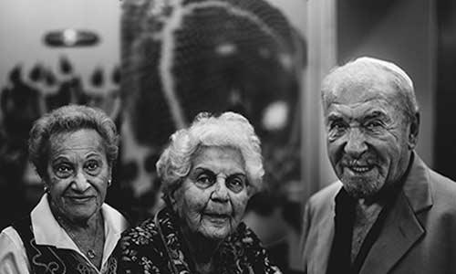 three holocaust survivors