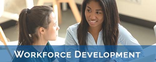 workforce development two women interviewing