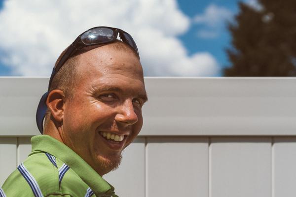 man smiling darlington RTS